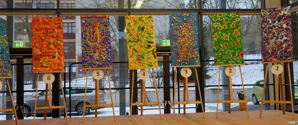 "Festlicher Abschluss ""Integratives Kunst-Projekt"" der Grundschule Friedrich Schiller (Europaschule) in Jena"