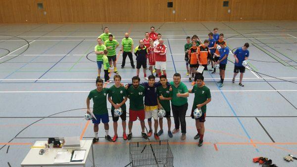 Fußballturnier an der Albert-Schweitzer-Schule mit Paten in Saalfeld
